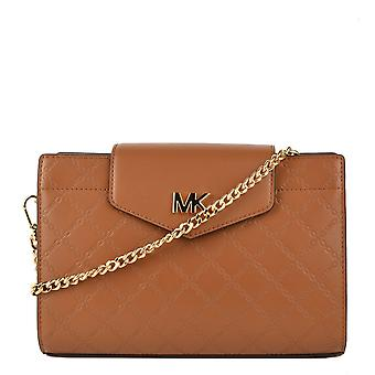 MICHAEL by Michael Kors Acorn Large Embossed Leather Crossbody Clutch