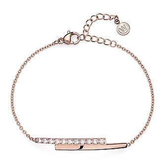 Bracelet Inter STE CZ RG white