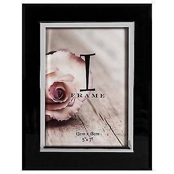 Juliana iFrame Toned foto rammen 5 x 7 - svart/sølv