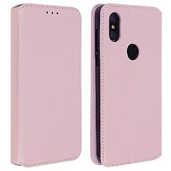 Classic Edition stand case with card slot for Xiaomi Mi Mix 3 - Rose gold