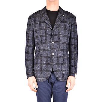 L.b.m. Ezbc215011 Men's Grey Wool Blazer