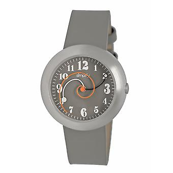 Simplify The 2700 Leather-Band Watch - Gray
