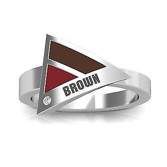 Brown University diamant ring i sterling sølv design af BIXLER