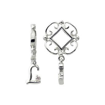 Storywheels sølv L indledende Dangle Charm S211D
