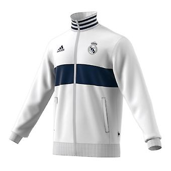 2019-2020 Real Madrid Adidas 3S Track Top (wit)