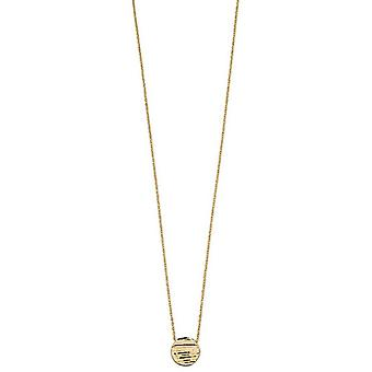 Elements Gold Textured Disc Necklace - Or