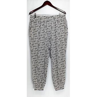 AnyBody Petite Lounge Pants, Sleep Shorts MP Cozy Knit Pajama Pants Gray A298207