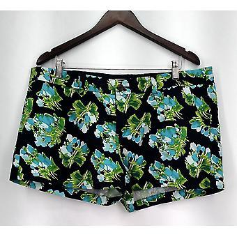 Merona Pantaloncini Slant Pockets chiusura zipper Navy Blue Nuovo