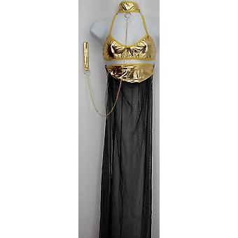 Janet's Stores 3 Piece Dance Costume Lingerie Set Gold / Black