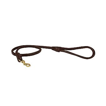 Weatherbeeta Rolled Leather Dog Lead - Marrón