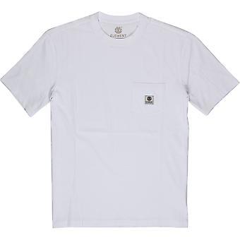 Elemento homens ' s T-shirt ~ Basic Pocket óptica branco