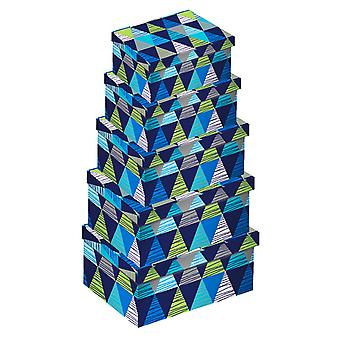 Eurowrap Triangles Oblong Boxes (Set of 5)