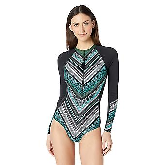 BEACH HOUSE SPORT Women's Long Sleeve Zipper Front one Piece Swimsuit, Straig...