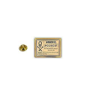 Pins Pin Badge Pin's Metal Broche Pince Papillon Drapeau Arsenic Poison