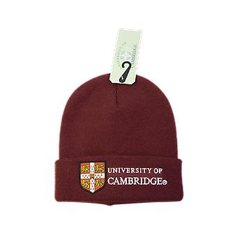 Licenciado cambridge university™ sombrero de esquí beanie color granate