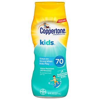 Coppertone kids sunscreen lotion, spf 70, 8 oz