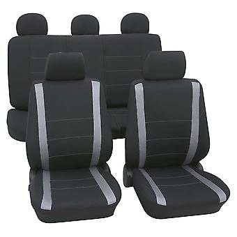 Seat Covers Package Washable Grey & Black For Ford Escort 1995-2001