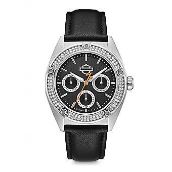 Harley Davidson 76N102 Women's Stone Set Wristwatch
