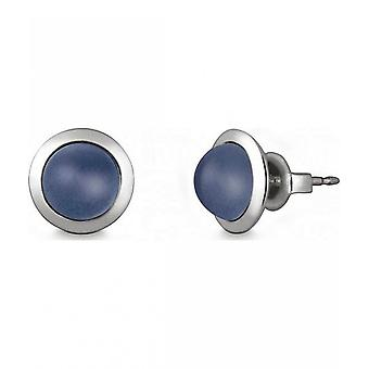 Quinn - Silver stud earrings with chalcedony - 036838915