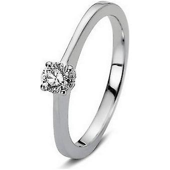 Diamond Ring Ring-18K 750 witgoud-0,21 CT.