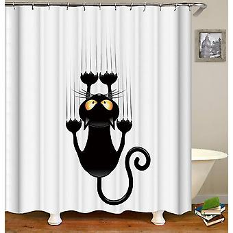 Slippery Cat Shower Curtain