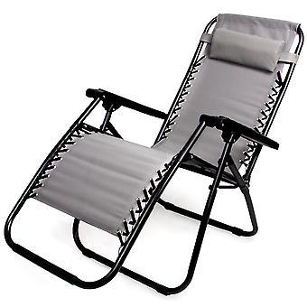Zero Gravity Folding Lounge Chair, Gray