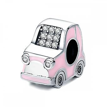 Sterling Silver Charm roze auto
