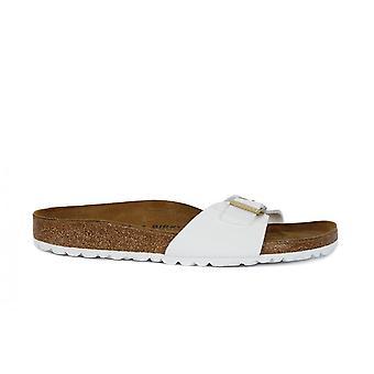 Birkenstock Madrid Patente Blanco 1005310 zapatos universales de verano para mujer