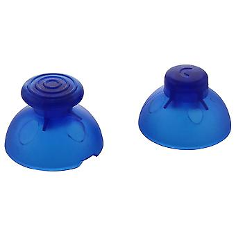 Analog thumbstick & c-stick for nintendo gamecube controller replacement sticks | zedlabz - clear / blue