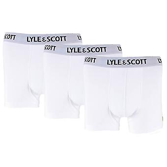 Lyle and Scott Barclay Basic Core 3 Pack Trunks - Bright White