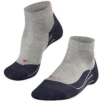 Falke Running 4 mittlere kurze Socken - hellgrau