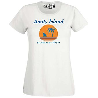 Women's amity island fitted t-shirt