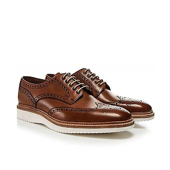Loake Hand-Painted Leather Cobra Brogues