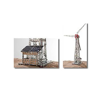 Wind Turbine with Solar Cell Metal Assembly Kit