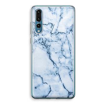 Huawei P20 Pro Transparent Case (Soft) - Blue marble