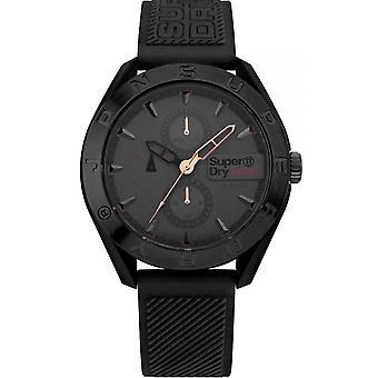 Watch SYG244EB - Osaka Multi Bracelet Silicone case Silicon black man black Superdry