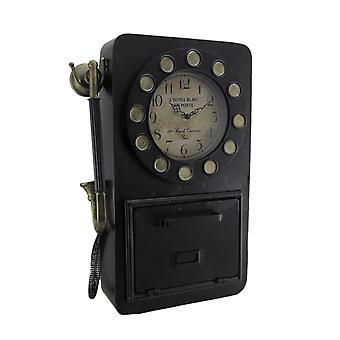Aika Chat Antique Rotary Phone Wall Clock kaappiin