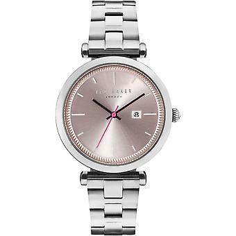Ted Baker Ava Quartz Metallic Dial Silver Stainless Steel Bracelet Ladies Watch TE10031521