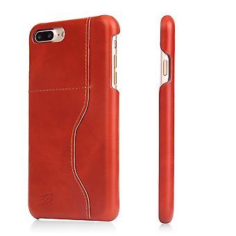 Voor iPhone 8 PLUS,7 PLUS Wallet Case, Modern Wax Cow Duurzame Lederen Cover, Bruin