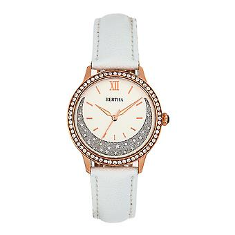 Bertha Dolly Leather-Band Watch - White