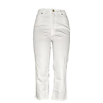 Isaac Mizrahi Live! Kvinner & apos; s TRUE DENIM Reg Fargede Jeans Hvit A274471