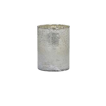 Light & Living Tealight 10x13cm - Nisa Matted White-Silver