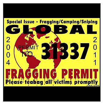 J!nx Fragging Permit Sticker