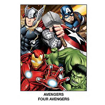 Super Soft Throws - Marvel - Avengers - vier neue 45 x 60