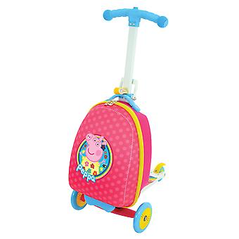 Peppa Pig 3-in-1 Scootin Suitcase Pink MV Sports Ages 3 Years+