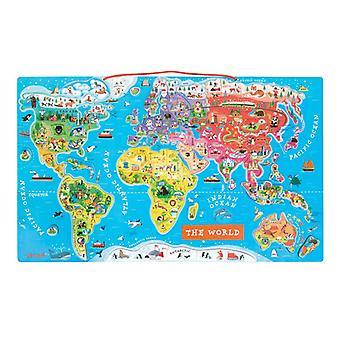 Janod Magnetic World Map Puzzle English Version