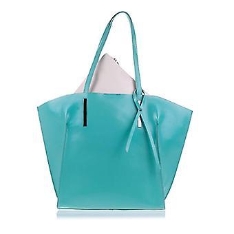 Florence Artegiani Bolso Tote De Mujer Piel Authentic Asa Y Lazo Decorative Messenger Bag 47 cm Turquoise (Turquesa)