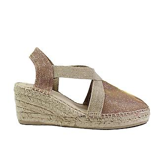 Toni Pons Triton Nude Textile Womens Wedge Pull On Espadrille Shoes