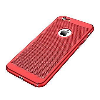 Stuff Certified® 8 iPhone - Ultra Slim Case Cover Cas Case Red Heat