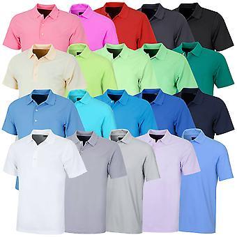 Greg Norman Mens KX04 Performance Micro Pique Plain Golf Polo Shirt